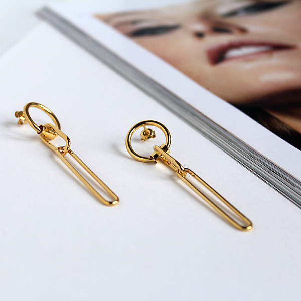 Goldplated bold 02 goldplated earrings