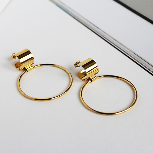 Goldplated bold 09 goldplated earrings