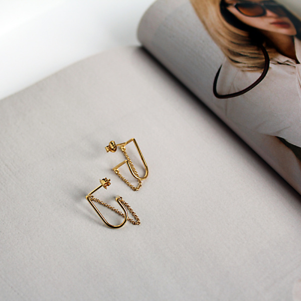 Goldplated bold 10 goldplated earrings