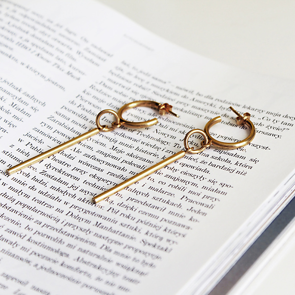 Gold bold 01 earrings - 14ct gold