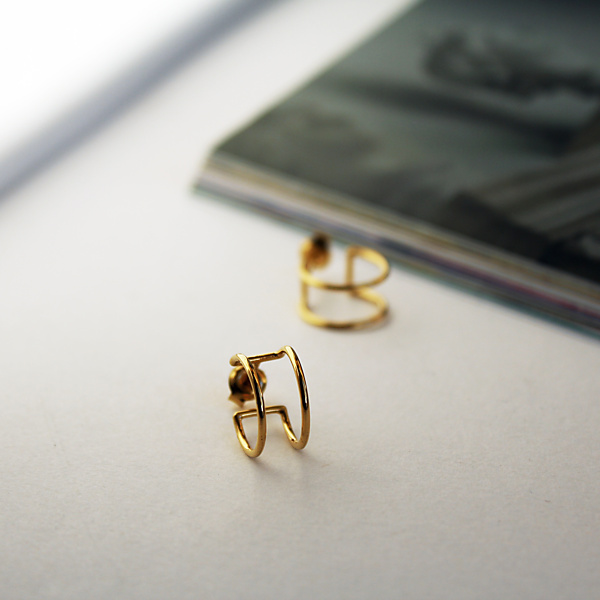 Goldplated essentials goldplated earrings