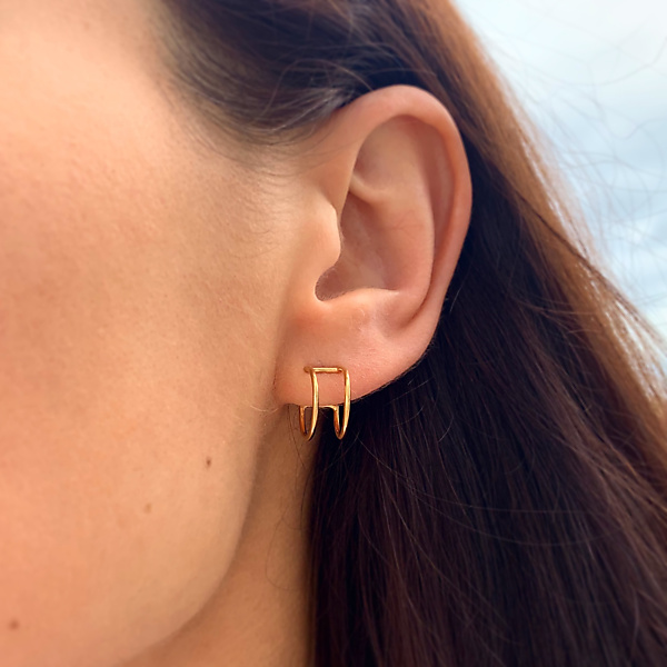 Gold essentials earrings - 14kt gold