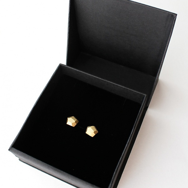 Goldplated uncut earrings gold