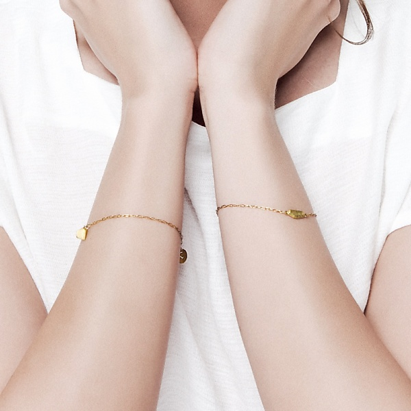 Goldplated uncut gold bracelet