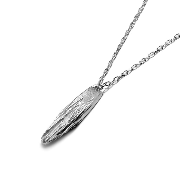 Silver iceberg necklace