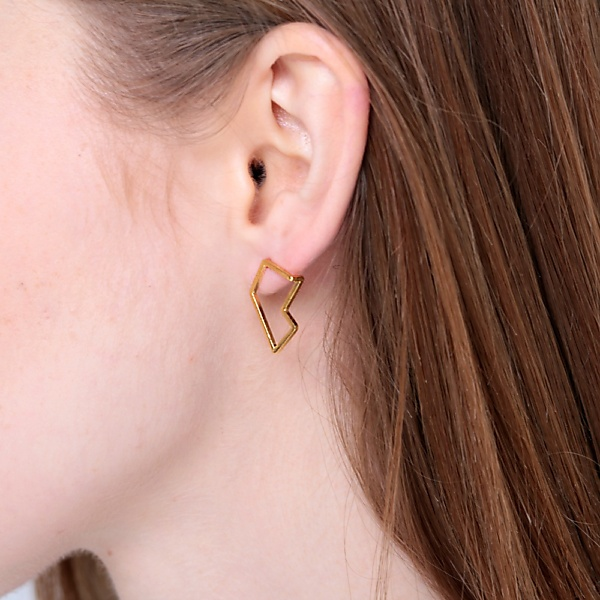 Goldplated subtle earrings no4 gold