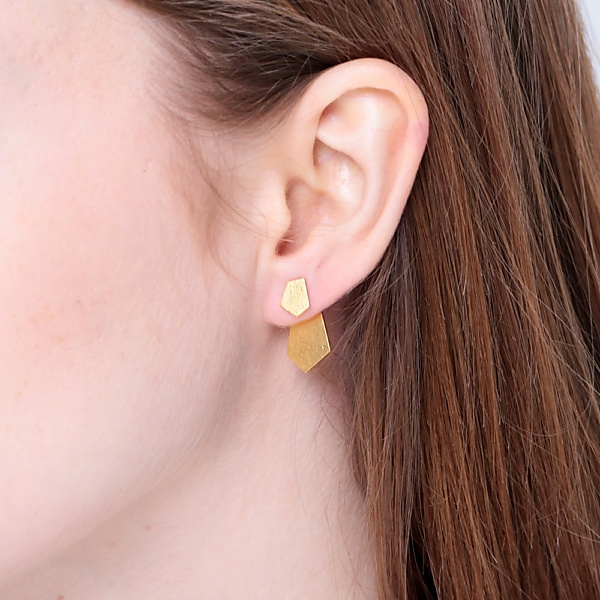 Goldplated subtle earrings no5 gold