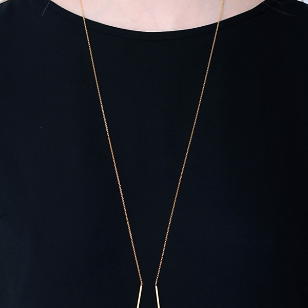 Goldplated subtle necklace no1 gold
