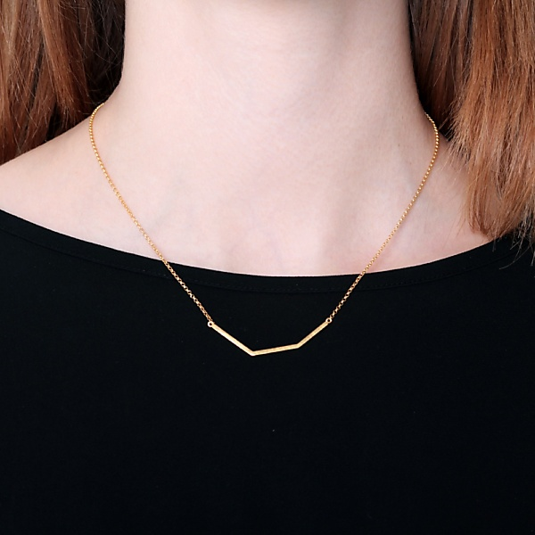 Goldplated subtle necklace no2 gold