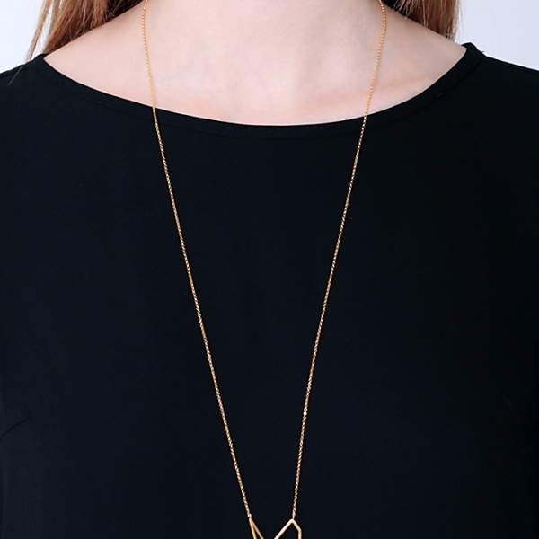 Goldplated subtle necklace no3 gold