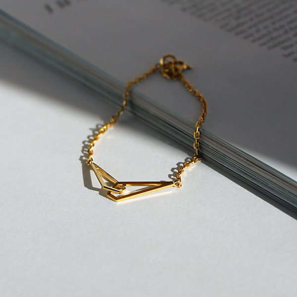 Goldplated subtle no2 gold bracelet