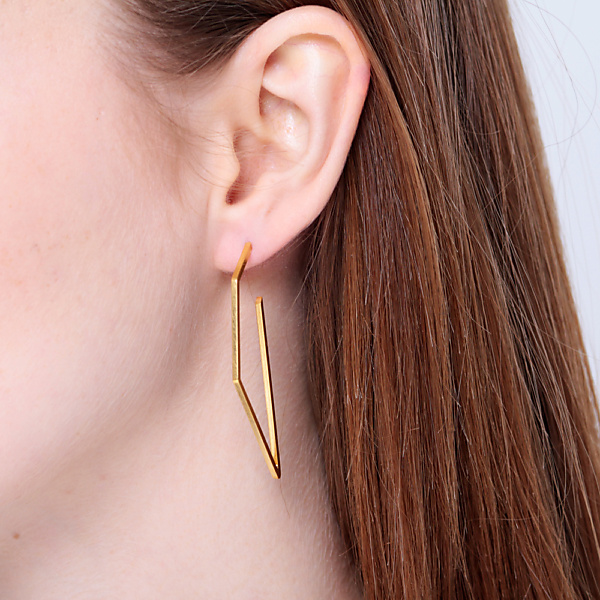 Goldplated subtle no2 earrings rosegold
