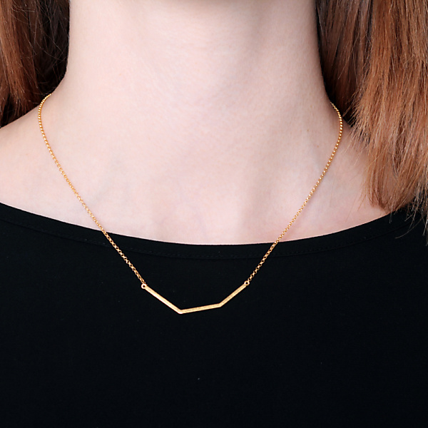 Goldplated subtle necklace no2 rosegold