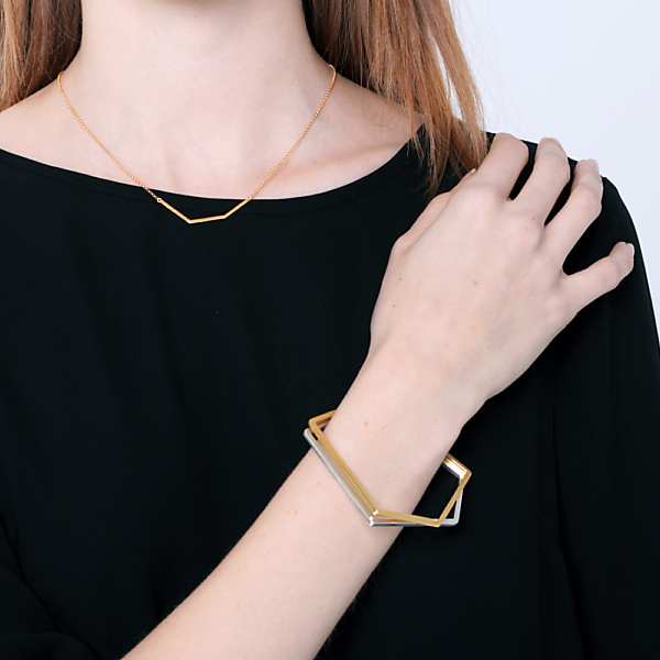 Goldplated subtle bracelet no1 rosegold