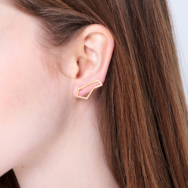 Goldplated subtle earrings no3 rosegold